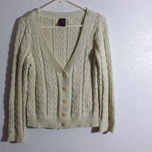 Pale Yellow Sweater Cardigan